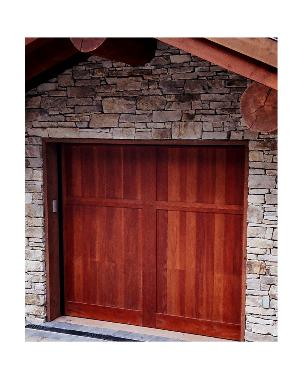 Hand made custom wood garage doors and real carriage house for Door 00 seatac