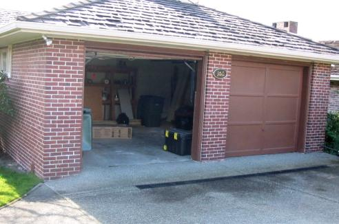 Custom Garage Doors or REAL Carriage Doors will solve this ugly situation for your carriage house & Hand-Made Custom Wood Garage Doors and REAL Carriage House Doors by ...