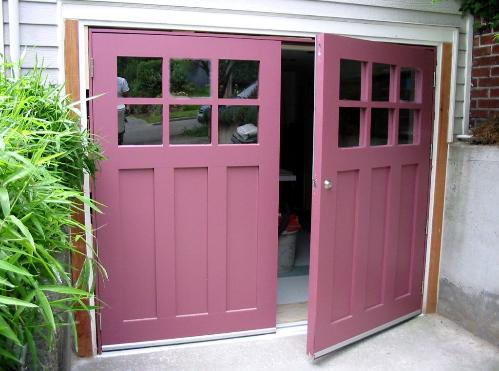 Ordinaire REAL Carriage Doors For Your Carriage House Built And Installed To Open As  Swing Out