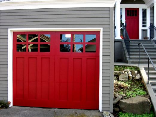 REAL Carriage Garage Doors for your carriage house built and installed to roll-up in sections as traditional garage doors.  Other opening styles for these Craftsman Garage  Doors include:  Swing-out, In Swing, Slide, or Fold.  The choice is yours for a carriage house garage door!