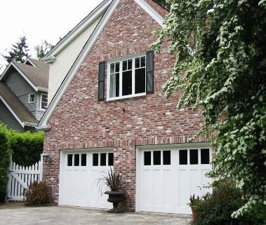 Bainbridge Island carriage house garage doors!  Classic styling.
