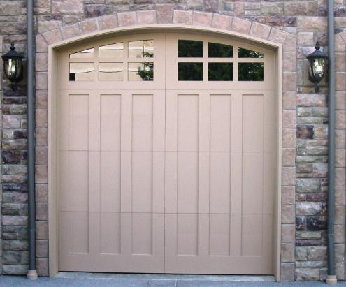 Custom Craftsman Garage Doors.   Choose the opening style that  meets your garage door  requirements:  Roll-up in  sections, Swing-out, Swing-in,  Slide, or Fold for your carriage  house garage door.