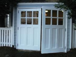 Vintage Garage Door, LLC has solutions for all your carriage house garage doors.  Our real custom carriage door solutions include Hinged, Swinging, Swing-Out, Swing-In, and Swing REAL carriage house doors.