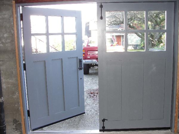 Hand-made custom Seattle Carriage Garage Door and REAL ...