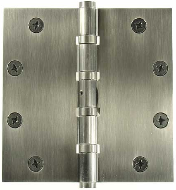 Heavy Duty 5 inch x 5 inch Mortise Hinges, four sleeved ball bearing, non-ferrous, non-removable pin (slang term - NRP'd or